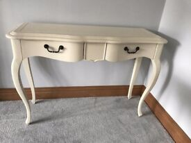Fayence Cream Console Table - Brand New