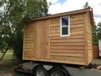 8' x 10' Cedar Sided Garden Shed