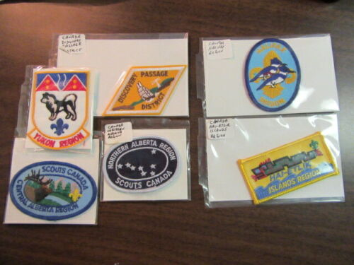 Canada Lot of 13 Region Patches        eb03  Region #2