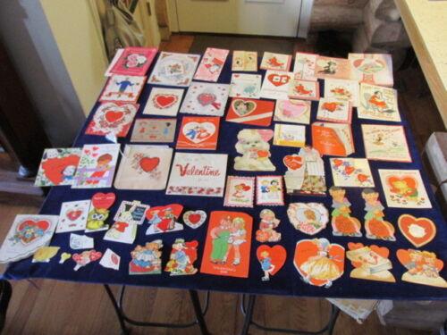 Vtg Valentine Card Lot 49pc Some Die Cut 1930