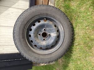 Complete Studded tires and rims