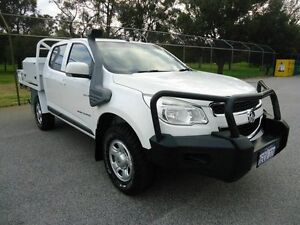 2012 Holden Colorado RG MY13 LX Crew Cab White 6 Speed Sports Automatic Cab Chassis Embleton Bayswater Area Preview
