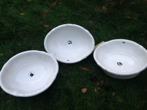 Oval White Drop-In Sinks - 3 Available