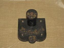 Antique German Wall Clock Chime Bar Mount