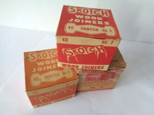 Vintage 3 Boxes Skotch Wood Joiners