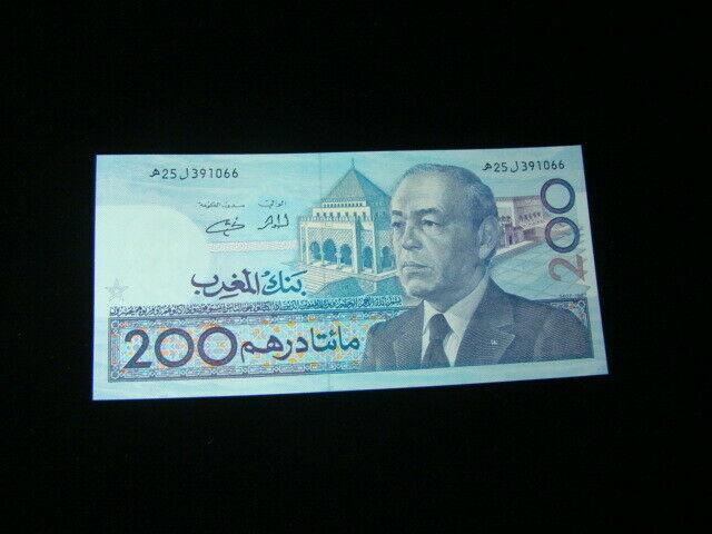 Morocco 1991 200 Dirhams Banknote Gem Unc. Pick#66e