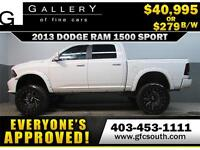 2013 DODGE RAM SPORT LIFTED *EVERYONE APPROVED* $0 DOWN $279/BW!
