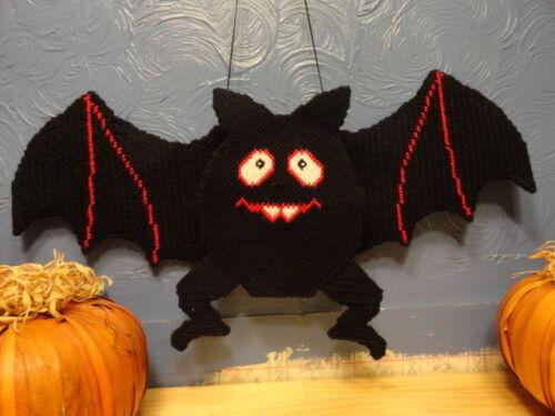 "Hand made Large""Bouncy Bat""Plastic Canvas Door Decoration~Halloween~23""x 10 1/2"""