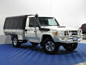 2008 Toyota Landcruiser VDJ79R GXL (4x4) White 5 Speed Manual Cab Chassis East Rockingham Rockingham Area Preview