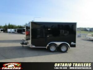 "ONTARIO TRAILERS TANDEM AXLE 7' X 12'+30"" V-NOSE TITAN"