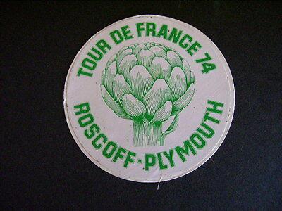 Sticker autocollant : Tour de France 74 - Roscoff - Plymouth