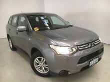 2013 Mitsubishi Outlander ZJ MY14 ES 2WD Silver 6 Speed Constant Variable Wagon Edgewater Joondalup Area Preview