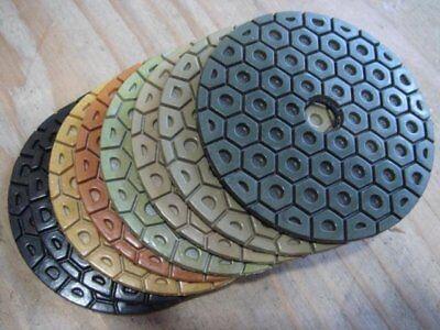 7 Inch Diamond Polishing Pad 14 Pieces For Stone Marble Granite Concrete Masonry