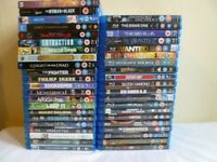 Blu rays like new 2.50 p. each or 6 for 13.00 pounds,or 65.00 pounds for the lot; 42 total