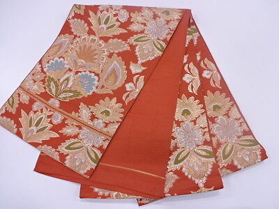 HIGH CLASS ANTIQUE FUKURO OBI FOR JAPANESE KIMONO, BEAUTIFUL CRAFT MATERIAL