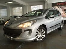 2009 Peugeot 308 Touring XSE HDI 2.0 Silver 6 Speed Automatic Wagon Five Dock Canada Bay Area Preview