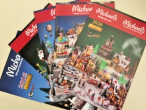 4 LEMAX CHRISTMAS VILLAGE CATALOG BOOKLETS 2015-2017-2018-2020 (no 2019)