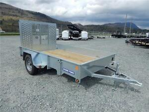 SURE-TRAC 6' wide x 10' long Galvanized Utility Trailer