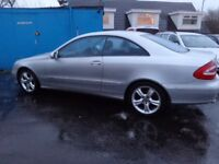 2003 mercedes clk 320 avantgarde auto mot 1 year h s h ex condition must be cheap at £1349