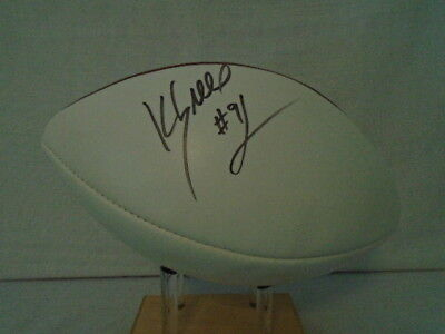 Kevin Greene Signed Wilson NFL Paul Tagliabue White Panel Football Steelers JSA