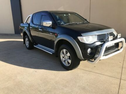 2009 Mitsubishi Triton ML MY09 GLX-R Utility Double Cab 4dr Man 5sp 4x4 930kg 3.2DT Black Manual