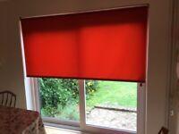 Brand-new blind 208cm wide x 204cm long Rusty orange