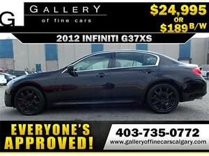 2012 Infiniti G37xS AWD $189 bi-weekly APPLY TODAY DRIVE TODAY
