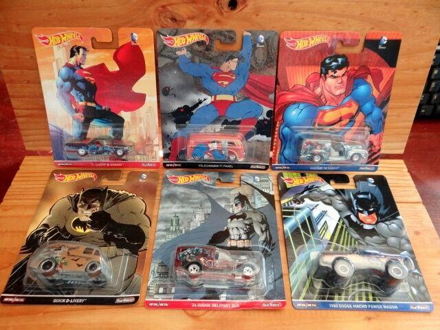 Hot Wheels 2016 Pop Culture DC COMICS BATMAN SUPERMAN inc VW T1 PANEL etc (A+/A)