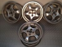 "RONDELL R.O.D 17"" 4x114.3 8J deep dish alloy wheels, original, not azev, speedline, aez, tm"