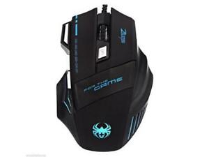 wired Zelotes Gaming mouse for pc or console with 7 buttons