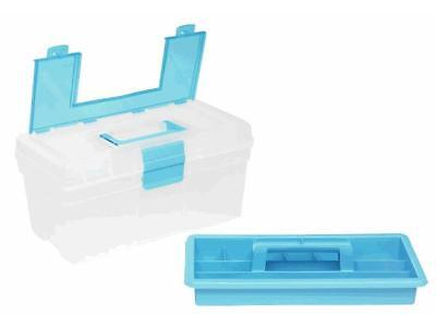 Allit Utensilienkoffer McPlus Clear - transparent-blau, 40 x 22 x 19,8 cm