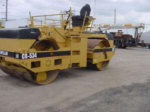 Compaction roller, Cat CB534 tandem roller, Lease $2,750.00 D/P