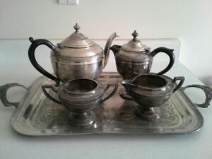 Silver Tea & Coffee Service with Tray