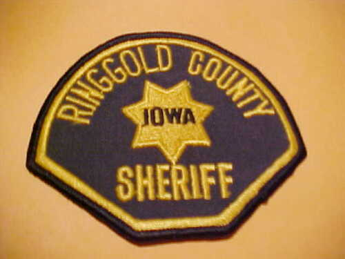 RINGGOLD COUNTY IOWA POLICE PATCH SHOULDER SIZE UNUSED
