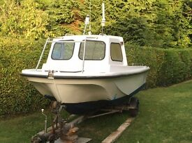 Task Force 18 - Fishing boat + 40hp Tohatsu outboard + trailer