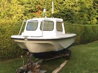 Task Force 18 - Fishing boat + 40hp Tohatsu outboard + trailer