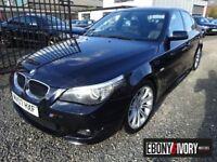 BMW 5 Series 97075 MILES + 520d M Sport 4dr + FULL SERVICE HISTORY (black) 2007