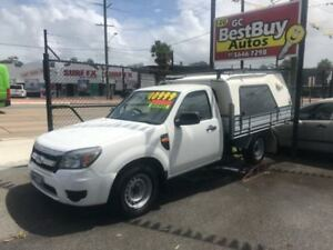 2010 Ford Ranger PK XL 4x2 White 5 Speed Manual Utility Southport Gold Coast City Preview