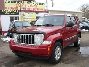 2010 JEEP LIBERTY SPORT 4WD AUTO START 136K-100% APPROVE FINANCE