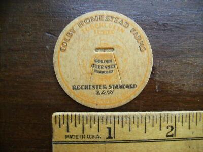 COLBY HOMESTEAD FARM SPENCERPORT NY VINTAGE MILK BOTTLE CAP LOT A-26