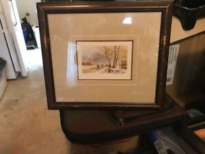 Vintage framed prints. Purchased at Eatons over 25 years ago