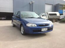 2000 Mazda 323 Protege Shades Blue 5 Speed Manual Sedan Spotswood Hobsons Bay Area Preview