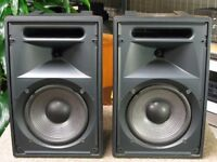 JBL Control 8SR Passive Monitor Speakers x2 + cables amplifier