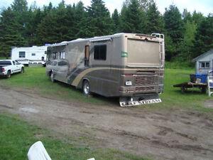 Class A Motor Home rear Flap & Hitch Extention