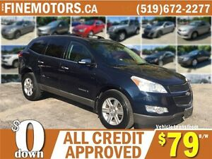 2009 CHEVROLET TRAVERSE LT * 7 PASSENGER * DVD * PANO POWER ROOF