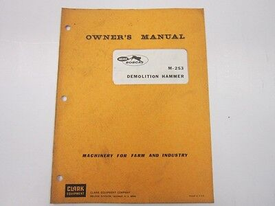 Bobcat M-253 Demolition Hammer Operators Manual