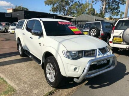 2010 Mitsubishi Triton MN MY10 GLX-R (4x4) White 5 Speed Manual 4x4 Double Cab Utility