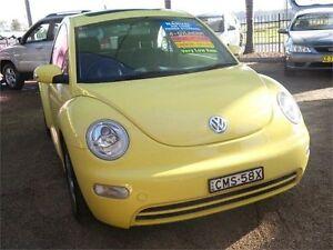 2003 Volkswagen Beetle 1Y MY2003 Yellow 5 Speed Manual Cabriolet Colyton Penrith Area Preview