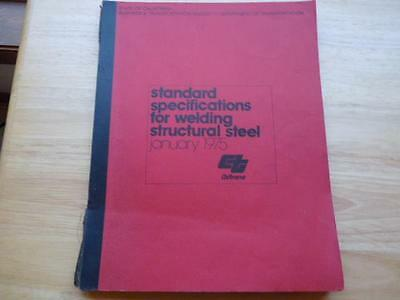 1975 Caltrans Standard Specifications Welding Structural Steel Booklet Manual Ca