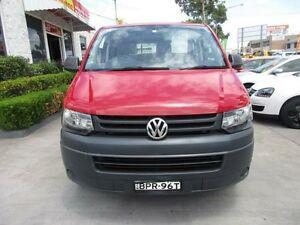 2010 Volkswagen Transporter T5 MY10 Red 6 Speed Manual Van North Parramatta Parramatta Area Preview